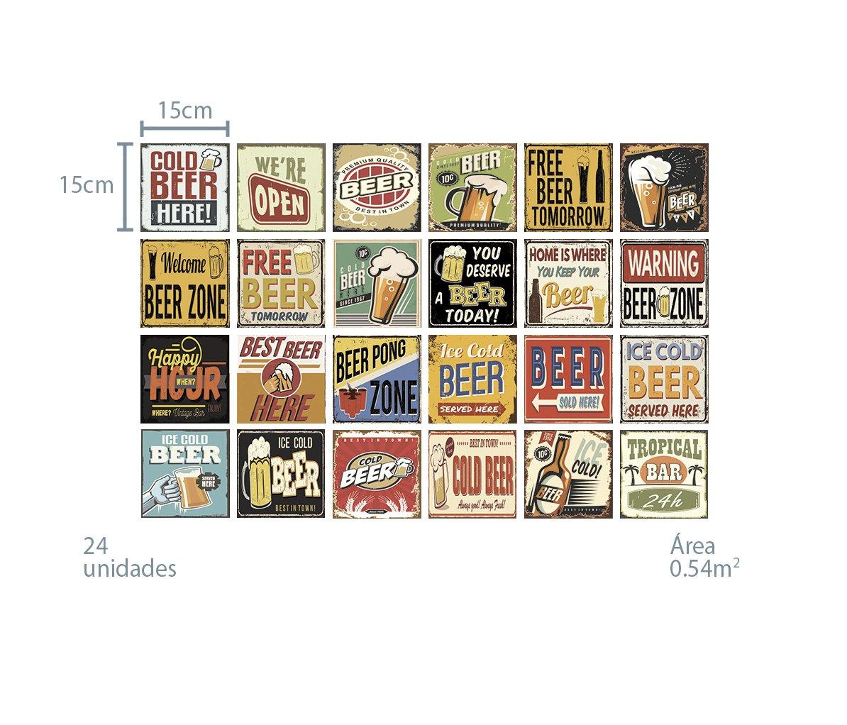 Azulejo Adesivo Beer - Cerveja Retrô