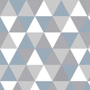 Rolo Adesivo Triângulos Azuis