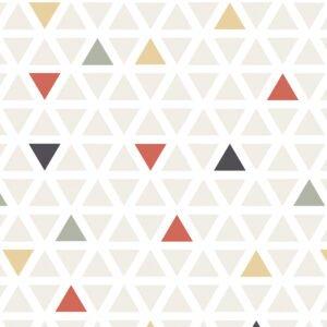 Rolo Adesivo Triangulo Colorido