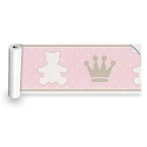 Faixa Decorativa Urso Rosa