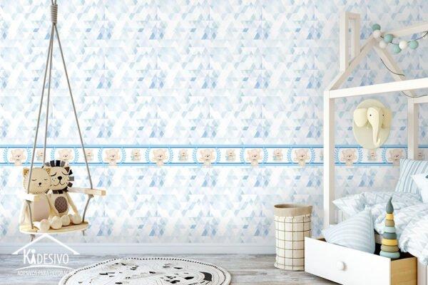 Faixa Decorativa Ursinho Carinhoso Azul