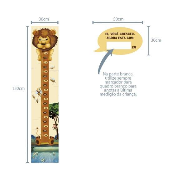 Régua de Crescimento Infantil Leão