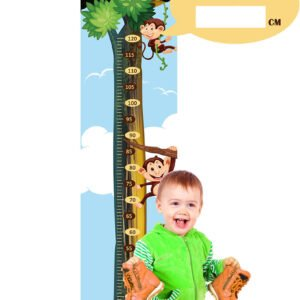 Régua de Crescimento Infantil Macacos