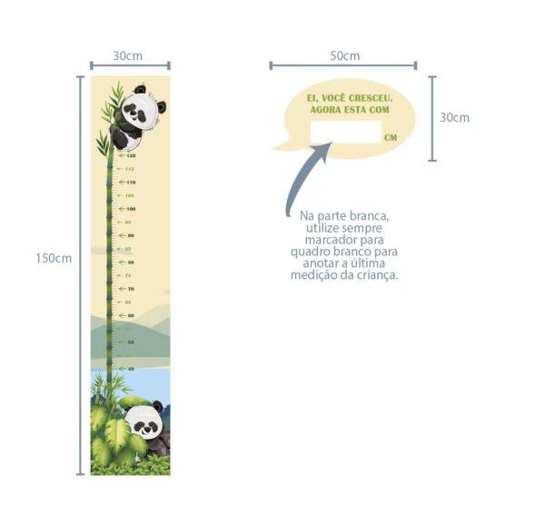 Régua de Crescimento Infantil Panda