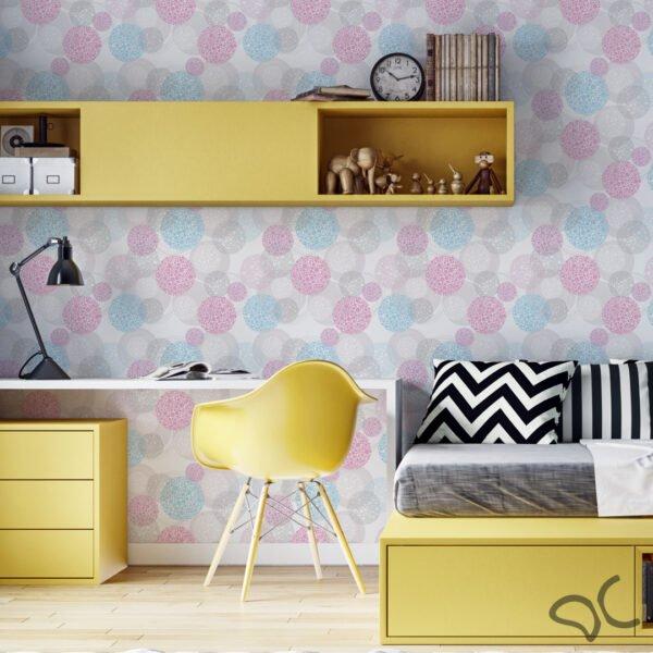 Adesivo de parede círculos coloridos Dcorando