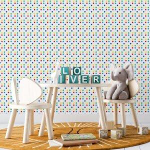 Adesivo de parede Dcorando Poá colorido