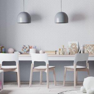 Adesivo de parede Dcorando Poá cinza e fundo branco