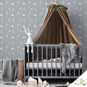 Dcorando Coleção Ambiente Decorado Infantil Cinza Cacto com cabana