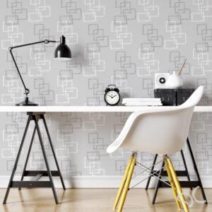 Adesivo Dcorando quadrado cinza e branco