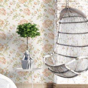 Adesivo de parede floral delicado Dcorando