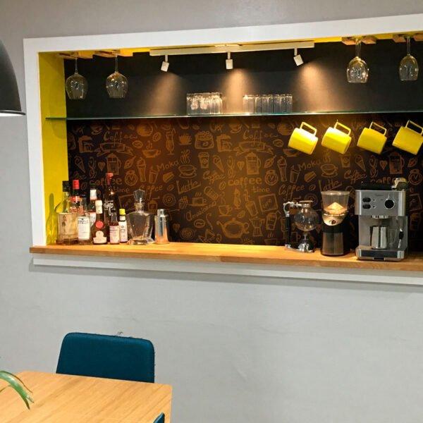 Adesivo Papel de Parede Café Dcorando