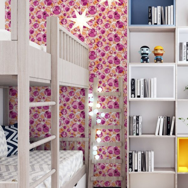Ambiente decorado com Adesivo Geométrico Dcorando