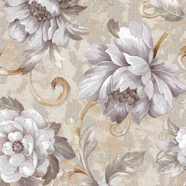 Adesivo de parede FLORAL Dcorando linho tecido bege