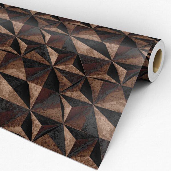 Rolo Adesivo de parede Dcorando 3D Pedra ferro