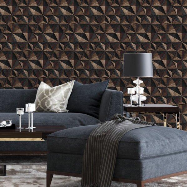 Adesivo de parede 3D Pedra ferro Dcorando
