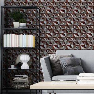 Adesivo de parede Dcorando 3D Pedra ferrugem