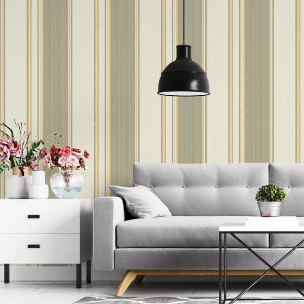 Adesivo de parede Dcorando Listrado amarelo e verde