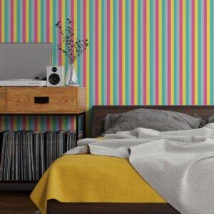 Adesivo de parede Dcorando Listrado multicolor