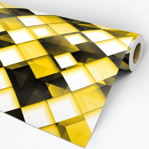 Adesivo de parede geométrico Dcorando Amarelo Gema
