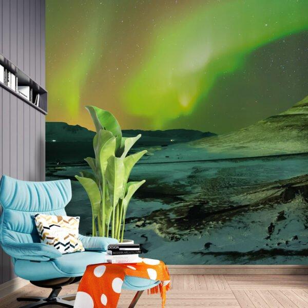 Painel fotográfico Dcorando aurora borealis iceland