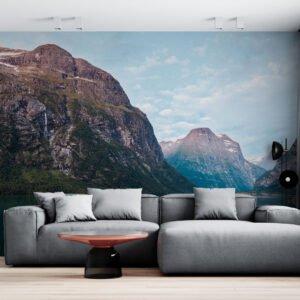 Painel Fotográfico Dcorando Barco nas montanhas