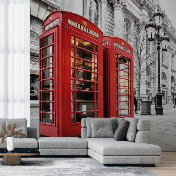 Painel Fotográfico Dcorando Cabine Telefone Londres
