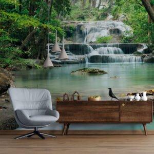 Painel Fotográfico Dcorando Cachoeira na Floresta