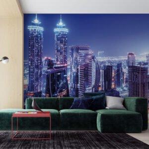 Painel Fotográfico Dcorando Cidade Noturna