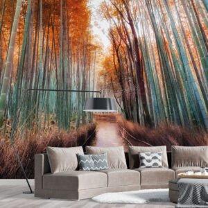 Painel Fotográfico Dcorando Floresta de Bamboo
