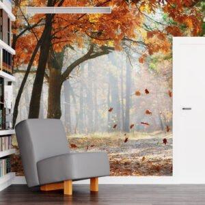 Painel Fotográfico Dcorando Folhas de Outono