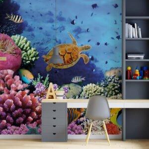 Painel Fotográfico Dcorando Fundo do Mar