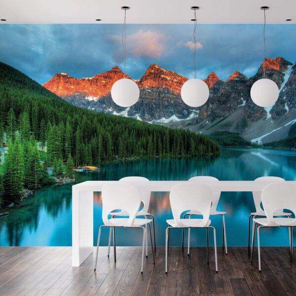 Painel Fotográfico de Parede Dcorando Parque Nacional Banff