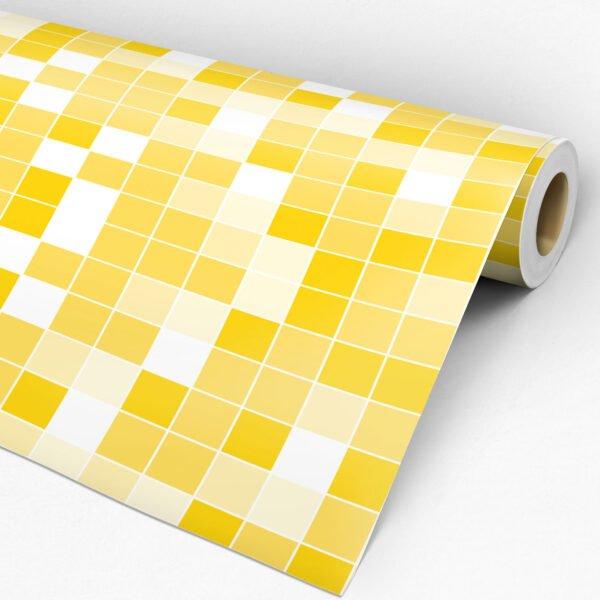 Adesivo de parede Dcorando Pastilha amarelo gema