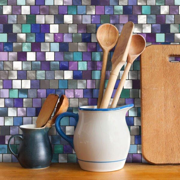 Dcorando Adesivo de Pastilha Multicolor
