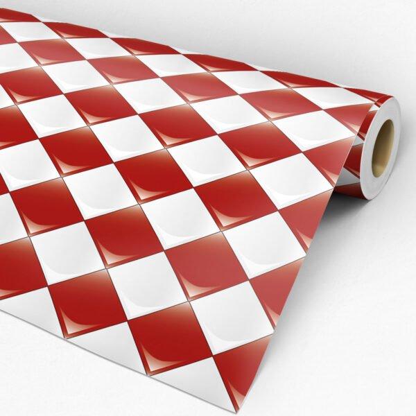 Adesivo Pastilha Dcorando Vermelha e Branca