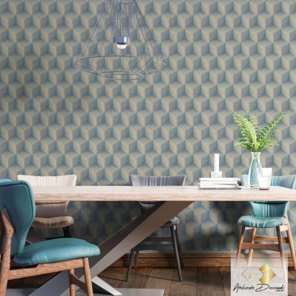 Dcorando Coleção Ambiente Decorado Cubis Blue