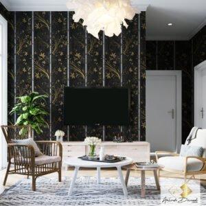 Dcorando Coleção Ambiente Decorado Florais Gold