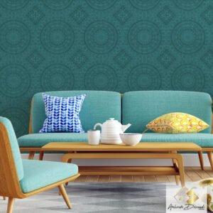 Dcorando Coleção Ambiente Decorado Mandala Blue