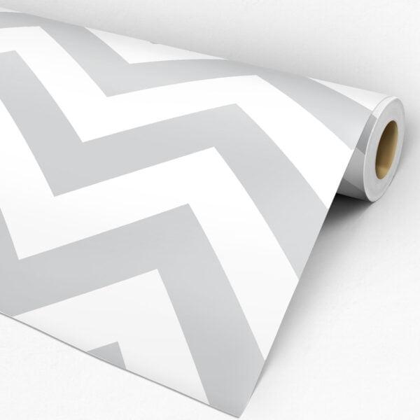 Adesivo Chevron Cinza e Branco Dcorando