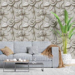 Adesivo Dcorando 3D Floral