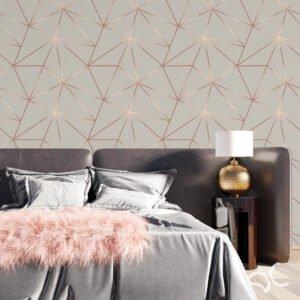 Dcorando Adesivo Zara Grey Cinza com Rose Gold - REVGEO184