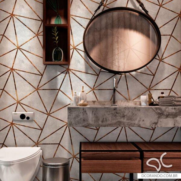 Adesivo de parede Dcorando modelo Zara Industrial