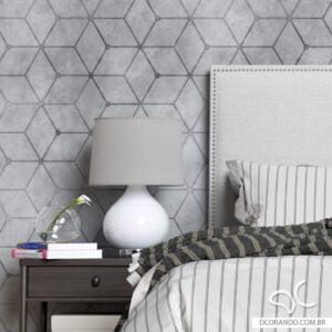 Adesivo de Parede Dcorando Cubis Industrial Cimento Queimado