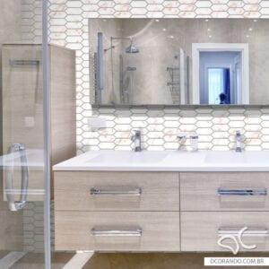 Adesivo Dcorando Pastilha Mosaico Six Mármore Color