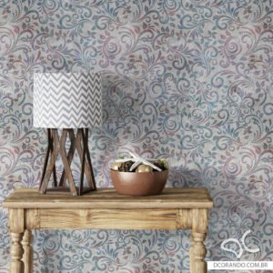 Dcorando Adesivo de parede floral cimento industrial multicolor