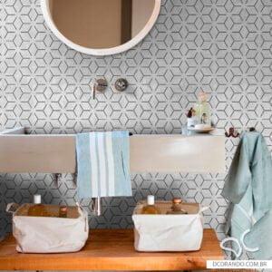Papel de parede adesivo lavável Dcorando