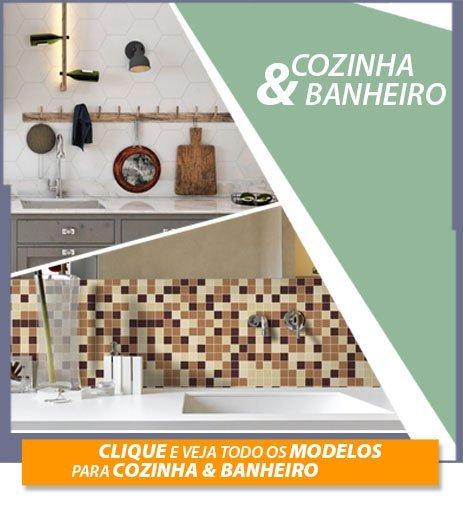 Ambientes cozinha e banheiro
