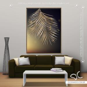 Quadro Folha Tree Dourada Dcorando