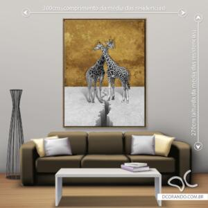 Quadro Giraffas Dcorando