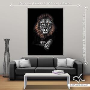 Quadro Rei Leão Preto e Branco Dcorando